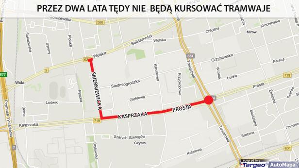 Zmiany przez budowę metra targeo