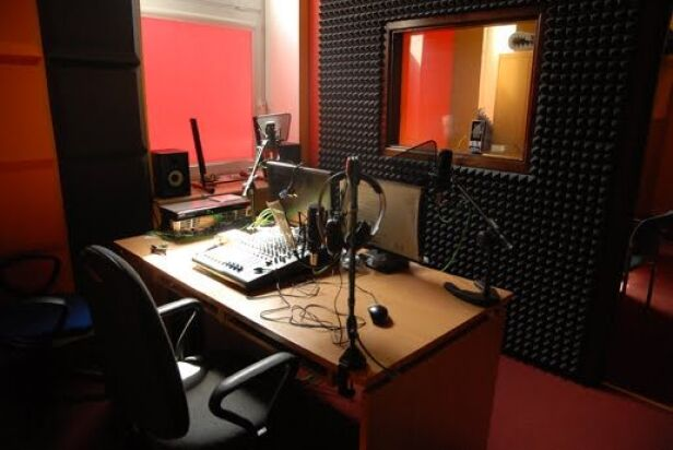 Studio bemowskiego radia Bemowo FM