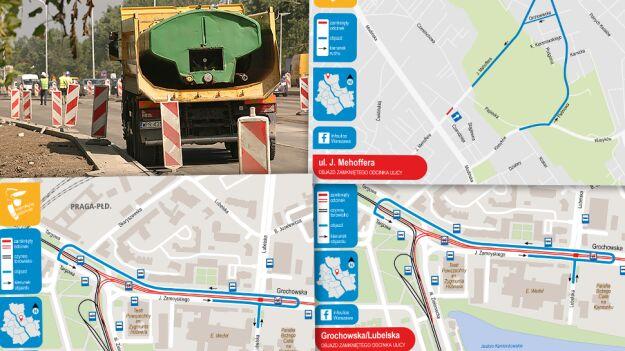 Budowa metra, remonty dróg i torów. Utrudnienia w kilku dzielnicach