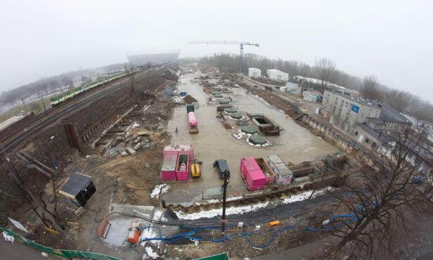 Budowa stacji Stadion Narodowy metro.waw.pl