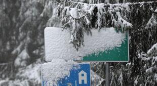 Śnieg w Zakopanem 25 września (PAP/Grzegorz Momot)